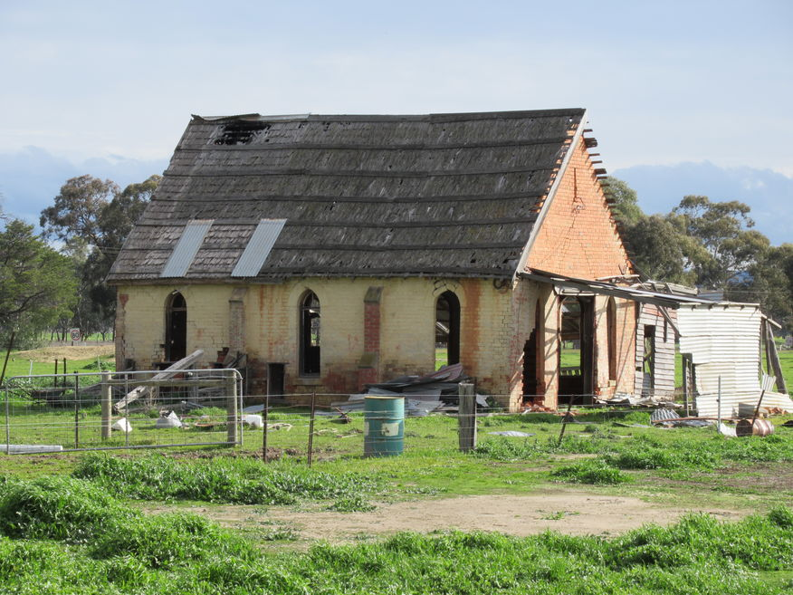 Maryborough-St Arnaud Road, Natte Yallock Church - Former