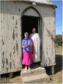 All Saints Anglican Church - Church Warden Molong Mary & Archdeacon Harris 07-12-2019 - John Brisbane