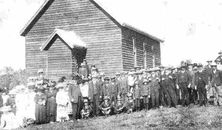 Apostolic Church of Queensland - Ropeley 00-00-1914 - Photograph supplied by Vicki Dunstan - Opening Dedication.