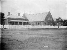 Bairnsdale Methodist Church - Former - Parsonage, Church and Sabbath School 00-00-1900 - Photograph supplied by Bruce Walker