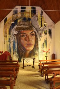 Goorambat Uniting Church - Mural 09-04-2019 - John Huth, Wilston, Brisbane