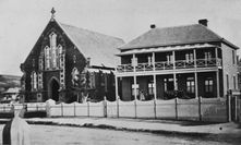 Ipswich City Uniting Church + Manse 00-00-1870 - Creator Unknown