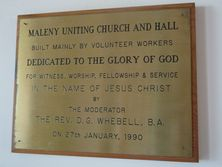Maleny Uniting Church 12-03-2016 - John Huth, Wilston, Brisbane