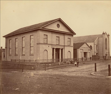 Rose Bay Presbyterian Church - Sydney Town Building - In Background 00-00-1870 - Charles Percy Pickering - See Note