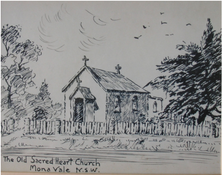 Sacred Heart Catholic Church - Original Building unknown date - Photograph by Pat Horton (Bayview) - See Note