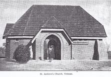 St Andrew's Anglican Church  unknown date - Photograph supplied by David Wiedemann 12/3/2018