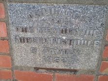St Andrew's Presbyterian Church  - Stone Tablet 03-02-2016 - John Conn, Templestowe, Victoria