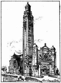 St Brigid's Catholic Church 00-00-1921 - Architects Drawing - Albert Edmund Bates - Supplied by Alan