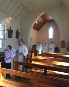 St Dymphna's Catholic Church - Former - Deconsecration Service 08-04-2018 - Susan Arthure - See Note
