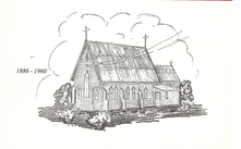 St George's Anglican Church - Sketch of First Church 16-05-2018 - Church Website - See Note.
