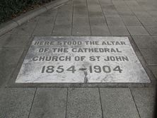 St John's Pro Cathedral - Former - Tablet in footpath 21-11-2018 - John Huth, Wilston, Brisbane