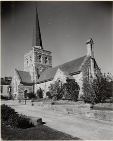 St Michael's Anglican Church 00-00-1955 - By William Brindle Contributed to NLA - nla-vn4588606