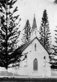 St Paul's Anglican Church - Prior to Porch Being Built 00-00-1905 - John Oxley Library - State Library of Queensland