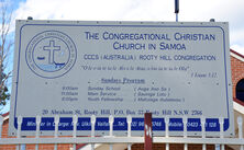 The Congregational Christian Church in Samoa - CCGS Rooty Hill Congregation 09-01-2021 - Peter Liebeskind