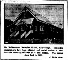 Walker Street Methodist Church - Former 04-02-1928 - The Brisbane Courier - See Note.