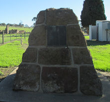 Warncoort Methodist Church - Former - Memoriial Cairn 14-05-2016 - John Threlfall, Mount Duneed.